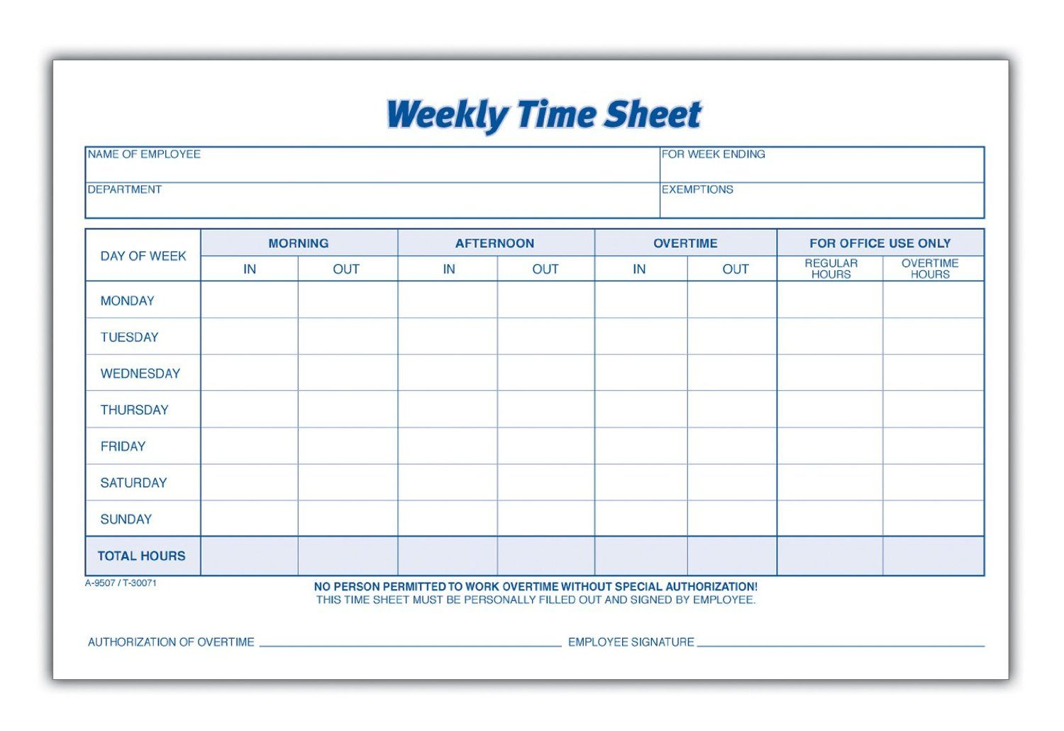 Weekly Employee Time Sheet | Good To Know | Timesheet Intended For Weekly Time Card Template Free