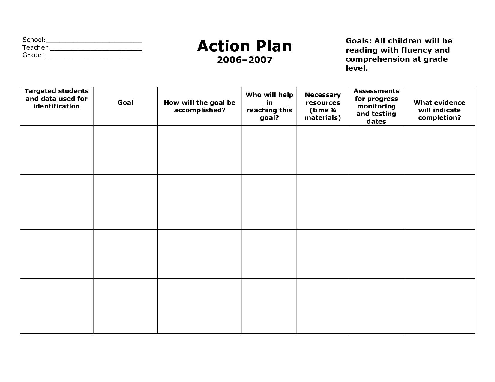 Weekly Plan Book Templates For Teachers | School Action Plan In Teacher Plan Book Template Word