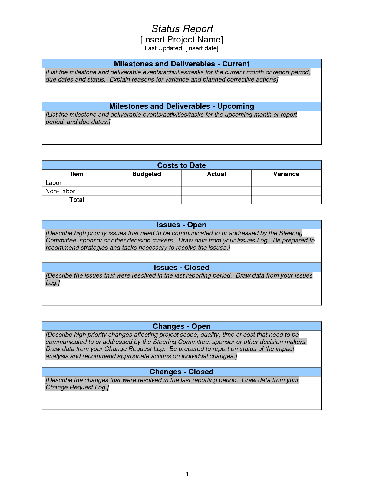 Weekly Project Status Report Sample - Google Search Throughout Weekly Progress Report Template Project Management