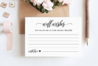 Well Wishes Printable, Wedding Advice Card Template For intended for Marriage Advice Cards Templates