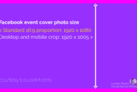 What's The Correct Facebook Event Image Size? 2019 Update throughout Facebook Banner Size Template