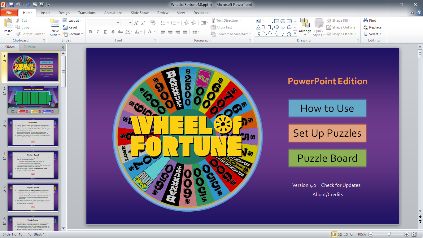 Wheel Of Fortune For Powerpoint - Gamestim With Wheel Of Fortune Powerpoint Game Show Templates