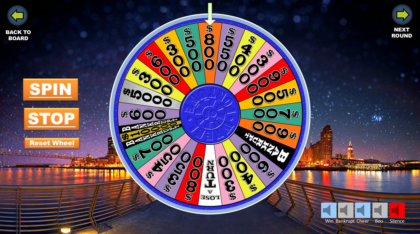 Wheel Of Fortune Powerpoint Game - Youth Downloadsyouth In Wheel Of Fortune Powerpoint Template