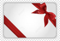 White Blank Gift Card Template With Red Ribbon And A Bow. Vector.. with Present Card Template
