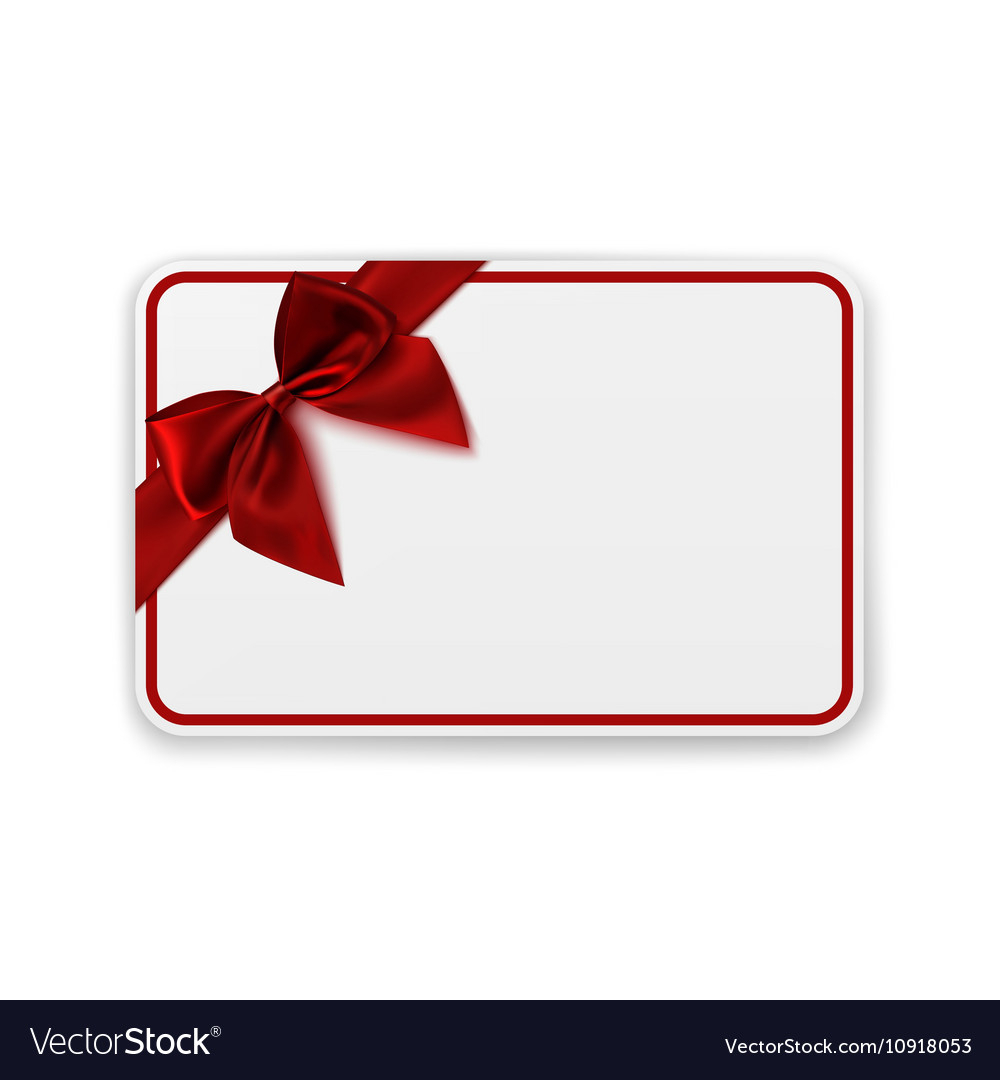 White Blank Gift Card Template With Regard To Present Card Template