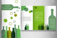 Wine Brochure Design Template Vector within Wine Brochure Template