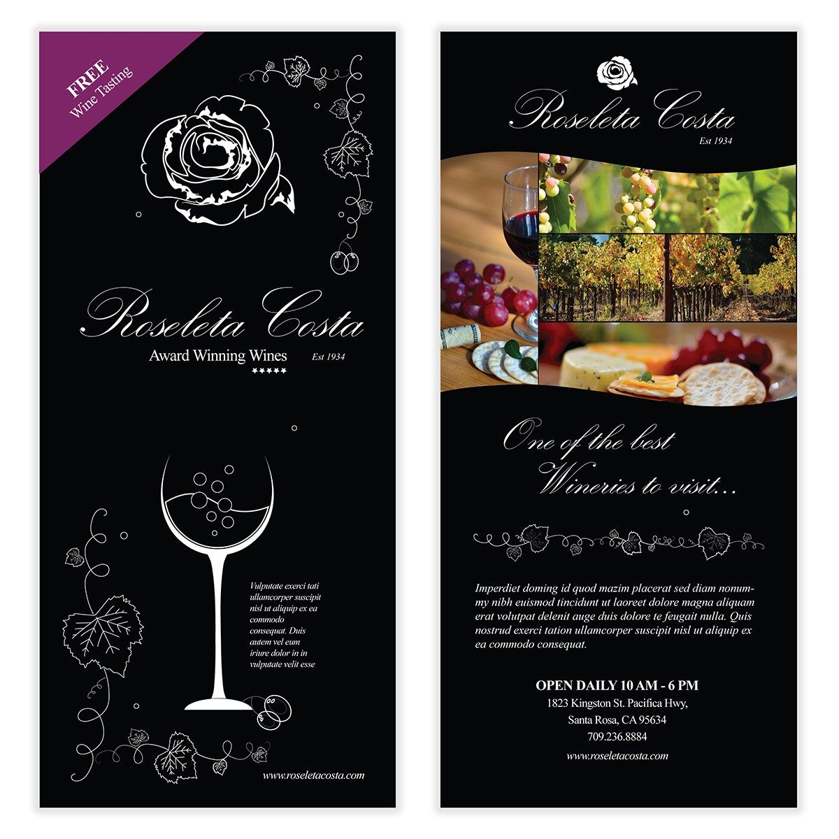 Wine Flyer Template 03 | Chakra Posters, Flyers, & Product Intended For Wine Brochure Template