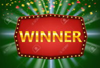 Winner Frame Label Banner Template. Win Congratulations Vintage.. for Congratulations Banner Template