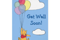 Winnie The Pooh And Balloons | Get Well Card | Zazzle with regard to Get Well Card Template