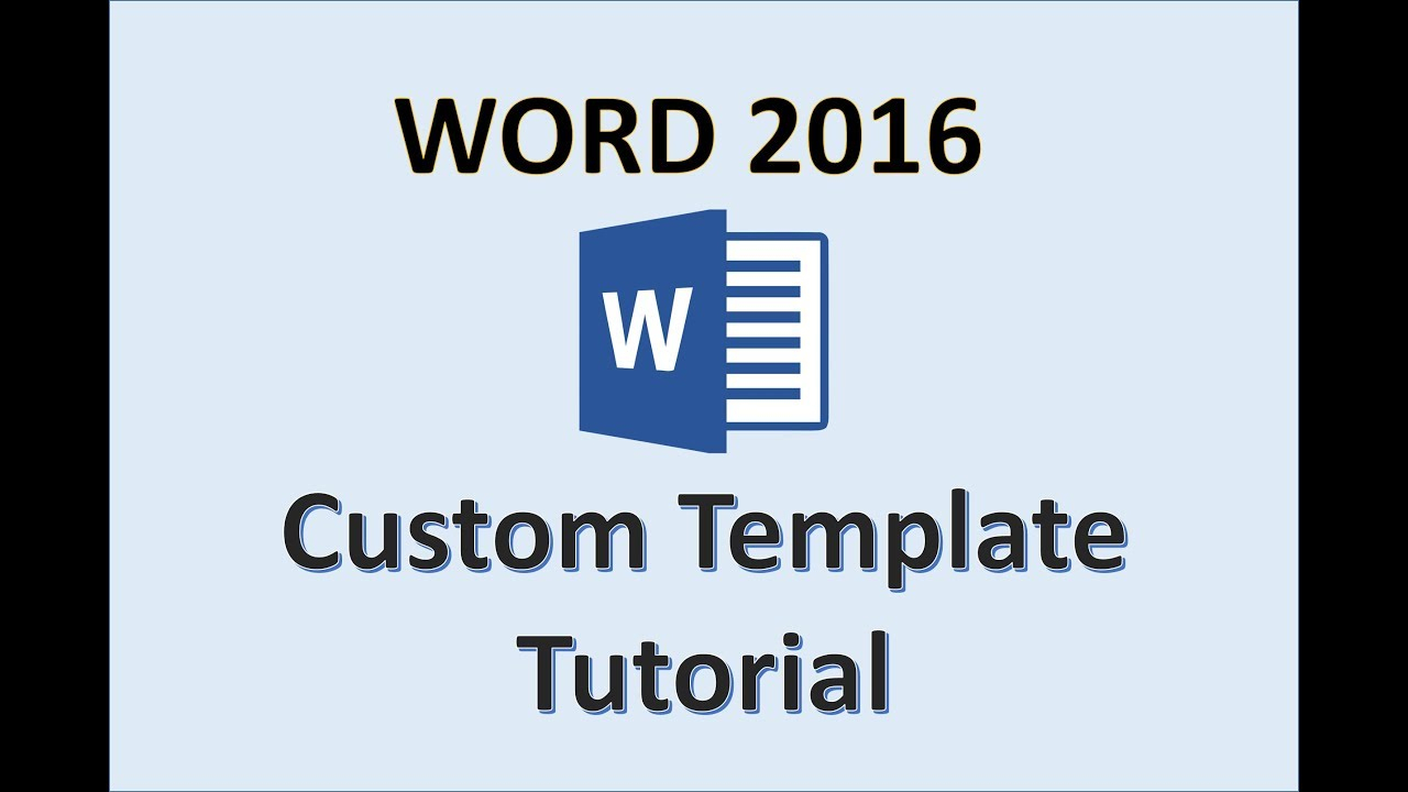 Word 2016 - Creating Templates - How To Create A Template In Ms Office -  Make A Template Tutorial Intended For How To Create A Template In Word 2013