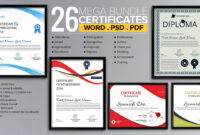 Word Certificate Template – 53+ Free Download Samples for Attendance Certificate Template Word