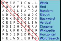 Word Search – Wikipedia in Word Sleuth Template