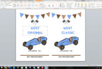 Word Template Pinewood Derby Pertaining To Pinewood Derby Certificate Template