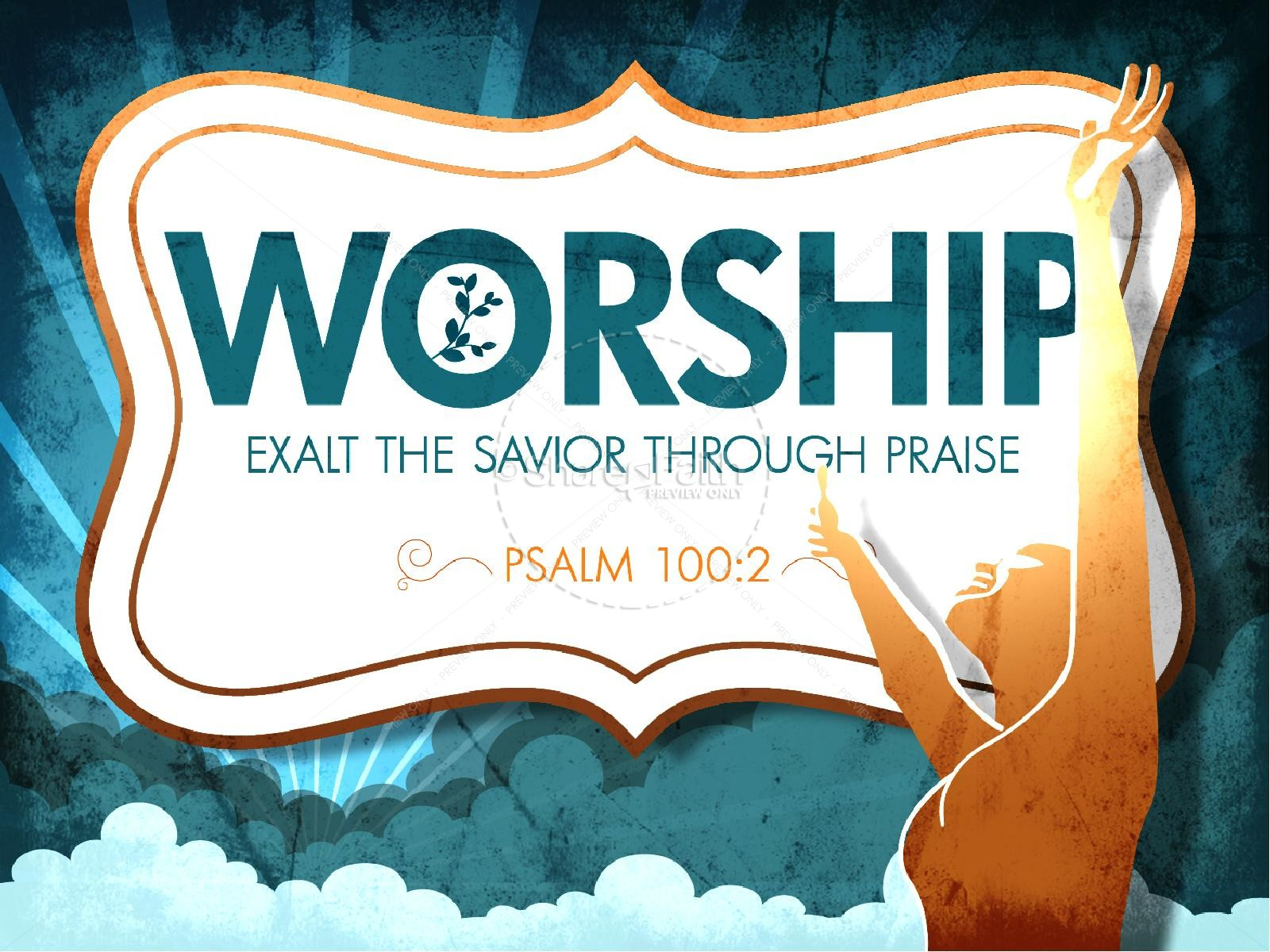 Worship Powerpoint Church Template | Powerpoint Sermons With Regard To Praise And Worship Powerpoint Templates
