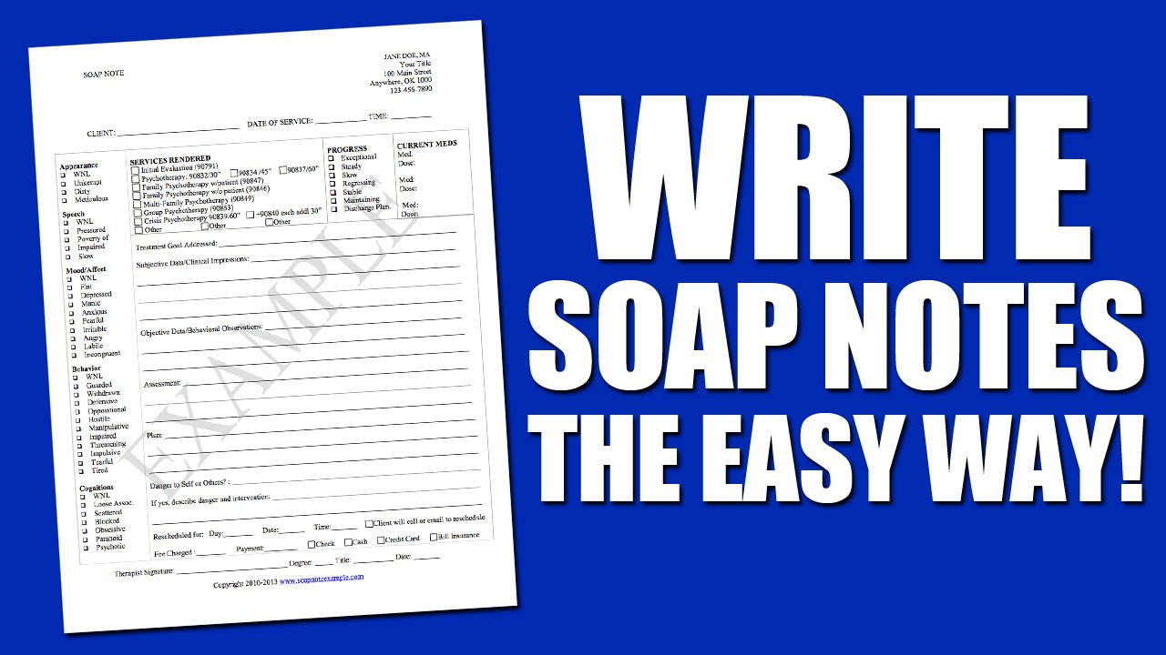 Write Soap Notes The Easy Way Using A Soap Note Template In Soap Note Template Word