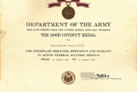 X12's Past Awards pertaining to Army Good Conduct Medal Certificate Template