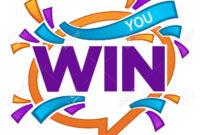 You Win , Vector Congratulation Banner Template With Speech.. with regard to Congratulations Banner Template