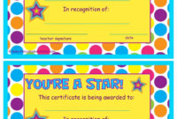 You're A Star End Of The Year Certificates   End Of The throughout Star Certificate Templates Free